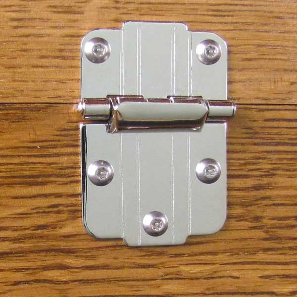 Part 1023 - Polished Nickel Hinge (with Rivets)