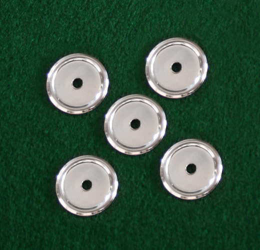 Part 1027a - Nickel Backplate for Drawer Knob (Pack of 5)