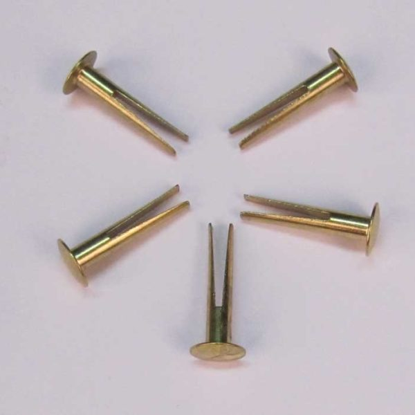 "Part 1040 - 3/4"" Brass Split Rivets (Set of 5 Rivets)"