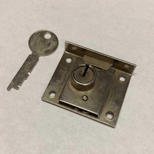 Part 1051 - Eagle Lock Company - Nickel Half Mortise Lock (Original)