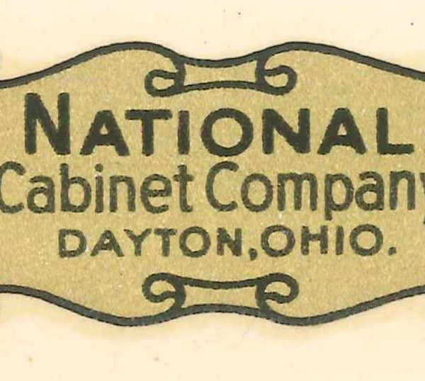 Part 1078 - National Cabinet Company Drawer Label (Original)